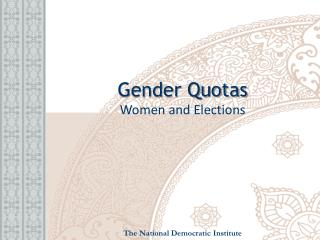 Gender Quotas Women and Elections