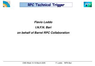 RPC Technical Trigger