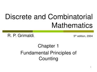 Chapter 1 Fundamental Principles of Counting