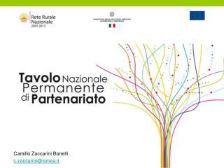 Camillo Zaccarini Bonelli c.zaccarini@ismea.it