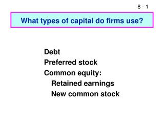 What types of capital do firms use?