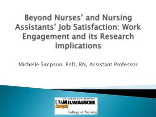 Michelle Simpson, PhD, RN, Assistant Professor