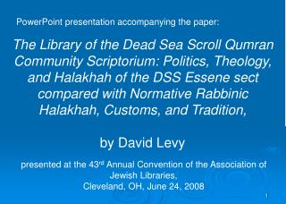 PowerPoint presentation accompanying the paper: