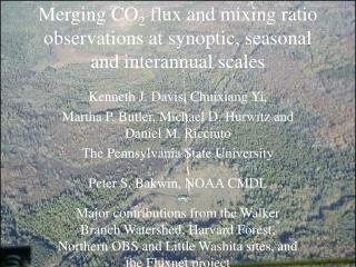 Merging CO 2  flux and mixing ratio observations at synoptic, seasonal and interannual scales