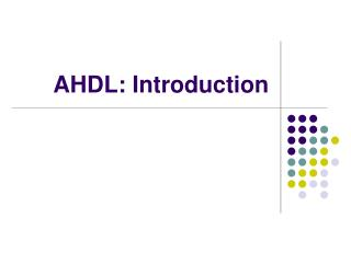 AHDL: Introduction