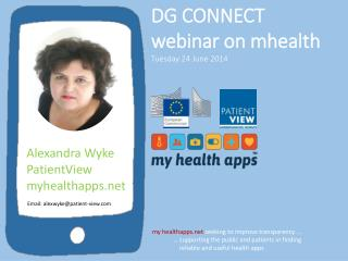 DG CONNECT  webinar on  mhealth Tuesday 24 June 2014