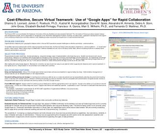 """Cost-Effective, Secure Virtual Teamwork:  Use of """"Google Apps"""" for Rapid Collaboration"""