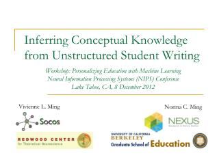 Inferring Conceptual Knowledge from Unstructured Student Writing