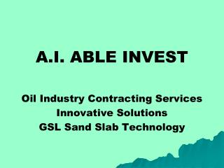 A.I. ABLE INVEST