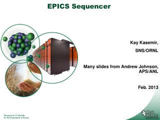 EPICS Sequencer