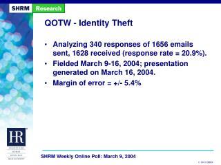 QOTW - Identity Theft