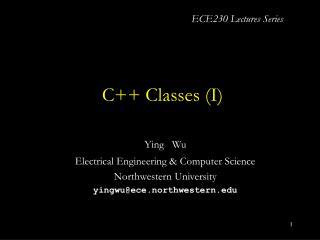 C++ Classes (I)