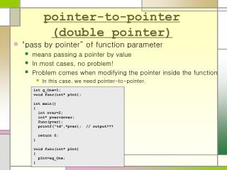 pointer-to-pointer (double pointer)