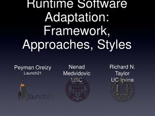 Runtime Software Adaptation: Framework, Approaches, Styles