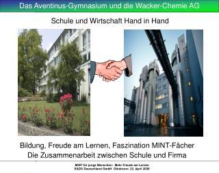 Schule und Wirtschaft Hand in Hand