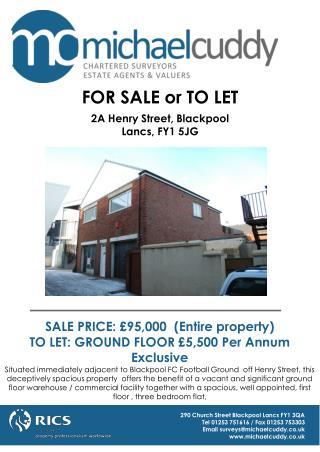 290 Church Street Blackpool Lancs FY1 3QA Tel 01253 751616 / Fax 01253 753303
