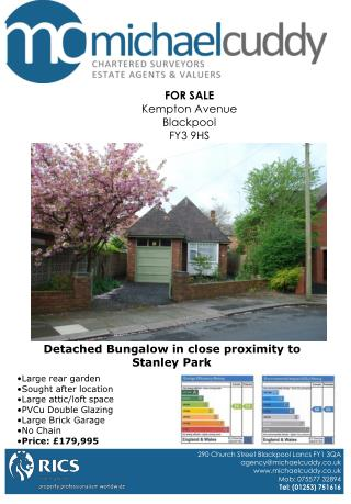 FOR SALE Kempton Avenue Blackpool FY3 9HS