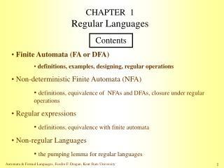 CHAPTER  1 Regular Languages