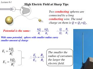 High Electric Field at Sharp Tips