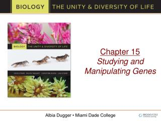 Chapter 15 Studying and Manipulating Genes