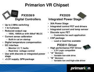 Primarion VR Chipset