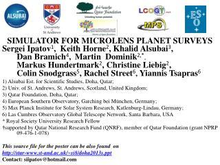 SIMULATOR FOR MICROLENS PLANET SURVEYS