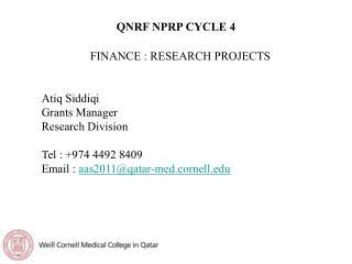 QNRF NPRP CYCLE 4