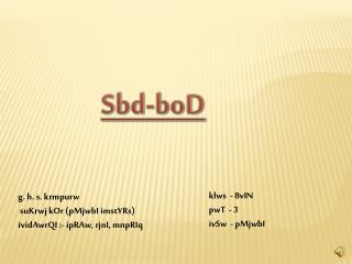Sbd-boD