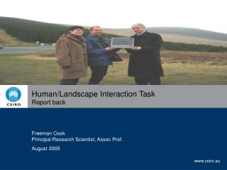 Human/Landscape Interaction Task  Report back