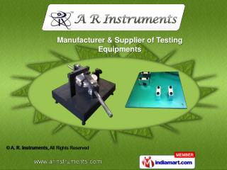 Impact Tester Conduits  &  Ball Pressure Tester