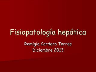 Fisiopatología hepática