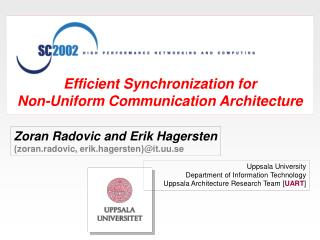 Efficient Synchronization for Non-Uniform Communication Architecture