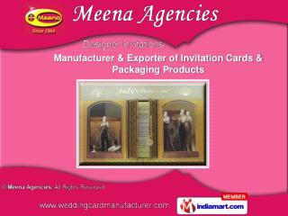 Invitation Card With Boxes And Bags  &   Designer Gift Bags