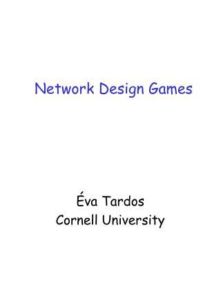 Network Design Games