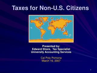 Taxes for Non-U.S. Citizens
