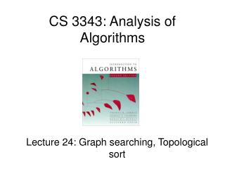 CS 3343: Analysis of Algorithms