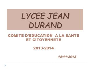 LYCEE JEAN DURAND