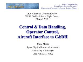 Control & Data Handling, Operator Control,  Aircraft Interface to C&DH