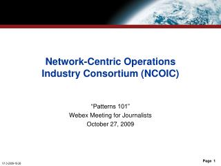 Network-Centric Operations Industry Consortium (NCOIC)