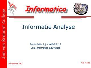 Informatie Analyse