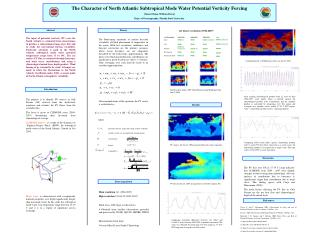The Character of North Atlantic Subtropical Mode Water Potential Vorticity Forcing