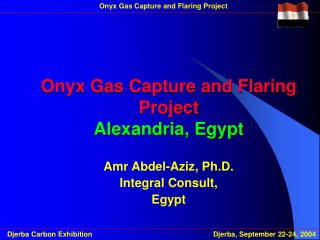 Onyx Gas Capture and Flaring Project Alexandria, Egypt