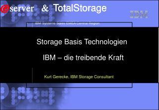 Storage Basis Technologien     IBM – die treibende Kraft