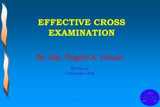 EFFECTIVE CROSS EXAMINATION