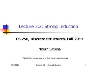 Lecture 3.2: Strong Induction