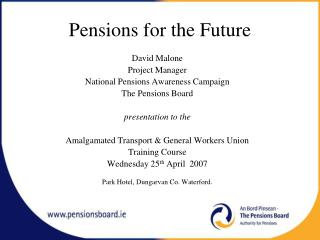 Pensions for the Future