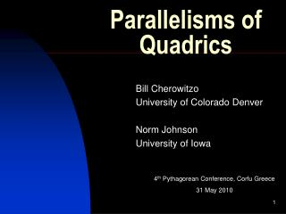 Parallelisms of Quadrics