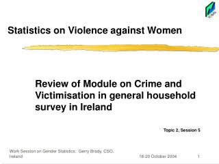 Statistics on Violence against Women