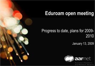 Eduroam open meeting