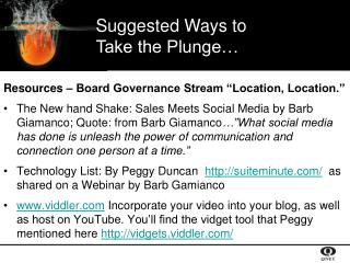 "Resources – Board Governance Stream ""Location, Location."""